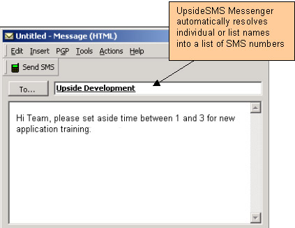 UpsideSMS Messenger - the only way to send SMS from Microsoft Outlook